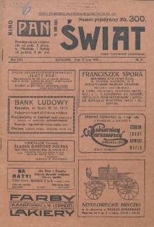 Świat : pismo tygodniowe ilustrowane poświęcone życiu społecznemu, literaturze i sztuce. R. 17 (1922), nr 28 (15 lipca)