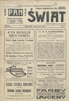 Świat : pismo tygodniowe ilustrowane poświęcone życiu społecznemu, literaturze i sztuce. R. 17 (1922), nr 30 (29 lipca)