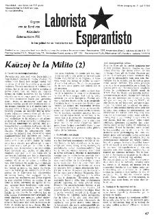 Laborista Esperantisto : Jaargang 33, no. 7 (1964)
