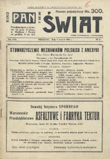 Świat : pismo tygodniowe ilustrowane poświęcone życiu społecznemu, literaturze i sztuce. R. 17 (1922), nr 31 (5 sierpnia)