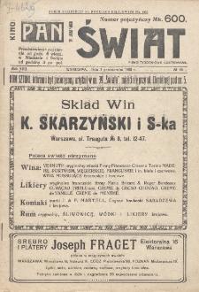 Świat : pismo tygodniowe ilustrowane poświęcone życiu społecznemu, literaturze i sztuce. R. 17 (1922), nr 40 (7 października)