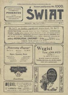 Świat : pismo tygodniowe ilustrowane poświęcone życiu społecznemu, literaturze i sztuce. R. 17 (1922), nr 49 (9 grudnia)