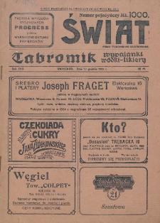 Świat : pismo tygodniowe ilustrowane poświęcone życiu społecznemu, literaturze i sztuce. R. 17 (1922), nr 52 (30 grudnia)