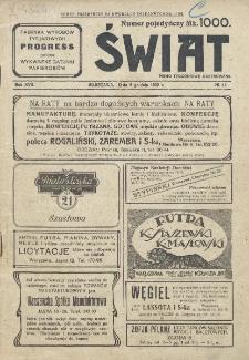 Świat : pismo tygodniowe ilustrowane poświęcone życiu społecznemu, literaturze i sztuce. R. 17 (1922), nr 48 (2 grudnia 1922)