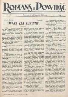 Romans i Powieść. R. 14, nr 3 (21 stycznia 1922)