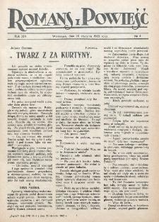 Romans i Powieść. R. 14, nr 4 (28 stycznia 1922)