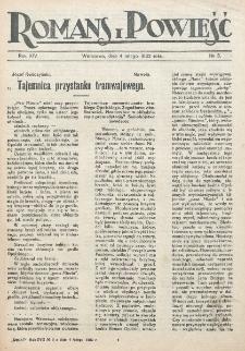 Romans i Powieść. R. 14, nr 5 (4 lutego 1922)