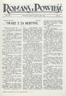 Romans i Powieść. R. 14, nr 14 (8 kwietnia 1922)