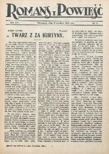 Romans i Powieść. R. 14, nr 15 (15 kwietnia 1922)