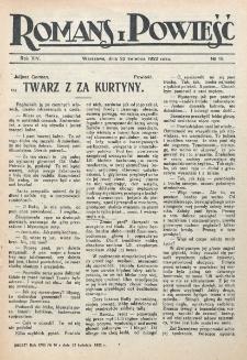 Romans i Powieść. R. 14, nr 16 (22 kwietnia 1922)