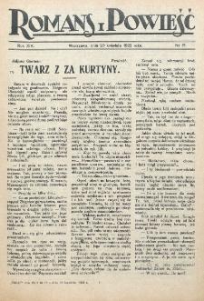 Romans i Powieść. R. 14, nr 17 (29 kwietnia 1922)