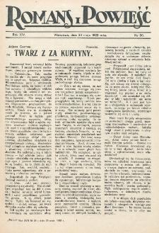 Romans i Powieść. R. 14, nr 20 (20 maja 1922)