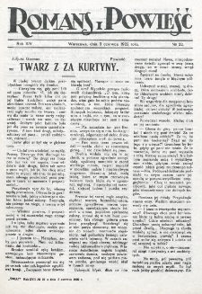 Romans i Powieść. R. 14, nr 22 (3 czerwca 1922)