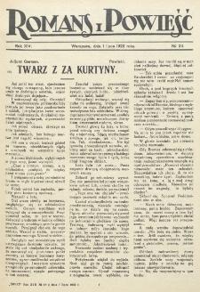 Romans i Powieść. R. 14, nr 26 (1 lipca 1922)