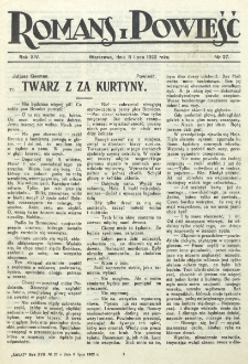 Romans i Powieść. R. 14, nr 27 (8 lipca 1922)