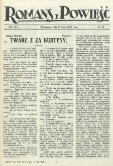 Romans i Powieść. R. 14, nr 28 (15 lipca 1922)