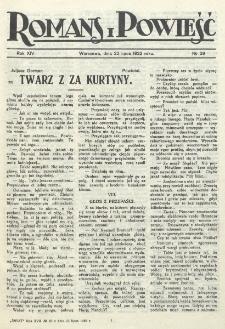 Romans i Powieść. R. 14, nr 29 (22 lipca 1922)