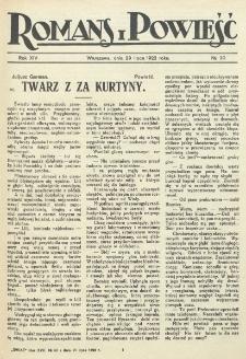 Romans i Powieść. R. 14, nr 30 (29 lipca 1922)
