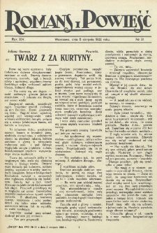 Romans i Powieść. R. 14, nr 31 (5 sierpnia 1922)