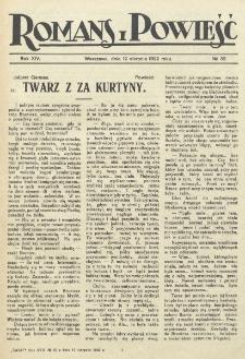 Romans i Powieść. R. 14, nr 32 (12 sierpnia 1922)