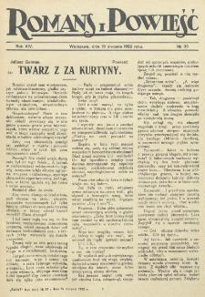 Romans i Powieść. R. 14, nr 33 (19 sierpnia 1922)