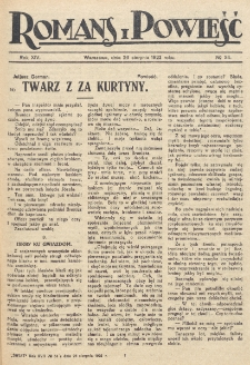 Romans i Powieść. R. 14, nr 34 (26 sierpnia 1922)