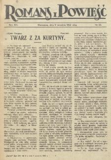 Romans i Powieść. R. 14, nr 36 (9 września 1922)