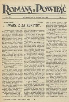 Romans i Powieść. R. 14, nr 37 (16 września 1922)