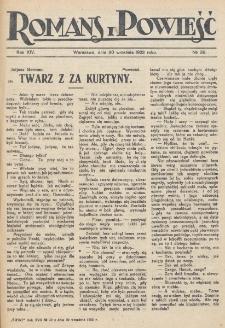 Romans i Powieść. R. 30, nr 37 (30 września 1922)