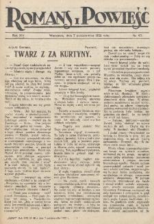 Romans i Powieść. R. 14, nr 40 (7 października 1922)