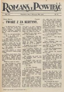 Romans i Powieść. R. 14, nr 44 (4 listopada 1922)