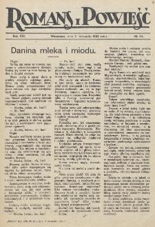 Romans i Powieść. R. 14, nr 45 (11 listopada 1922)