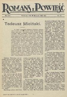 Romans i Powieść. R. 14, nr 47 (25 listopada 1922)
