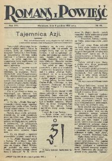 Romans i Powieść. R. 14, nr 49 (9 grudnia 1922)