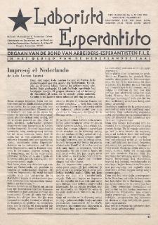 Laborista Esperantisto : Jaargang 19, no. 6 (1950)