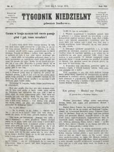 Tygodnik Niedzielny : pismo ludowe : wychodzi jako dodatek do Gazety Narodowej. R. 7 (1873), nr 6 (8 lutego)