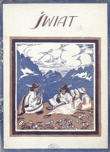 Świat : pismo tygodniowe ilustrowane poświęcone życiu społecznemu, literaturze i sztuce. R. 20 (1925), nr 32 (8 sierpnia)
