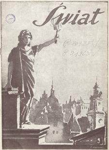 Świat : pismo tygodniowe ilustrowane poświęcone życiu społecznemu, literaturze i sztuce. R. 20 (1925), nr 33 (15 sierpnia)