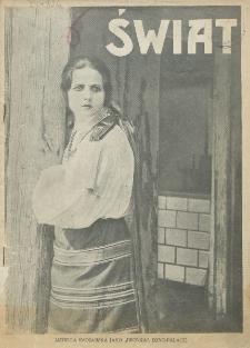 Świat : pismo tygodniowe ilustrowane poświęcone życiu społecznemu, literaturze i sztuce. R. 20 (1925), nr 46 (14 listopada)