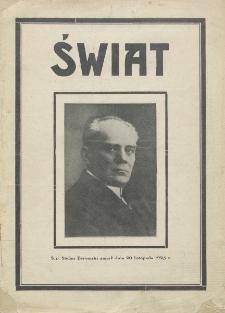 Świat : pismo tygodniowe ilustrowane poświęcone życiu społecznemu, literaturze i sztuce. R. 20 (1925), nr 48 (28 listopada)