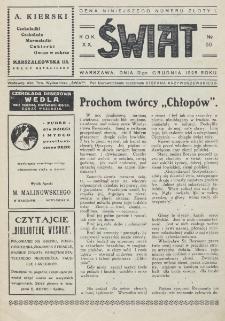 Świat : pismo tygodniowe ilustrowane poświęcone życiu społecznemu, literaturze i sztuce. R. 20 (1925), nr 50 (12 grudnia)