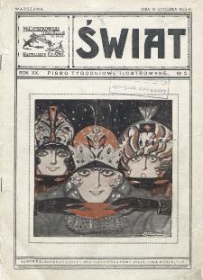 Świat : pismo tygodniowe ilustrowane poświęcone życiu społecznemu, literaturze i sztuce. R. 19 (1924), nr 2 (10 stycznia 1925)