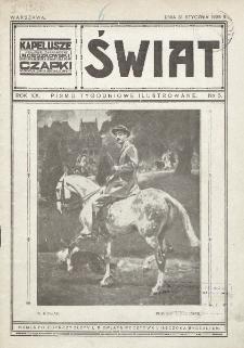 Świat : pismo tygodniowe ilustrowane poświęcone życiu społecznemu, literaturze i sztuce. R. 20 (1925), nr 5 (31 stycznia)