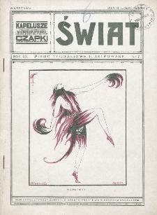 Świat : pismo tygodniowe ilustrowane poświęcone życiu społecznemu, literaturze i sztuce. R. 20 (1925), nr 7 (14 lutego)