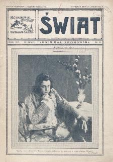 Świat : pismo tygodniowe ilustrowane poświęcone życiu społecznemu, literaturze i sztuce. R. 20 (1925), nr 8 (21 lutego)