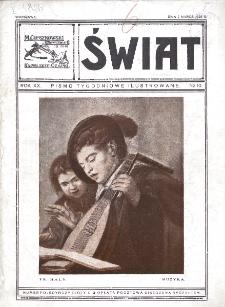 Świat : pismo tygodniowe ilustrowane poświęcone życiu społecznemu, literaturze i sztuce. R. 20 (1925), nr 10 (7 marca)
