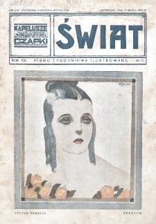Świat : pismo tygodniowe ilustrowane poświęcone życiu społecznemu, literaturze i sztuce. R. 20 (1925), nr 11 (14 marca)