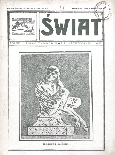 Świat : pismo tygodniowe ilustrowane poświęcone życiu społecznemu, literaturze i sztuce. R. 20 (1925), nr 12 (21 marca)