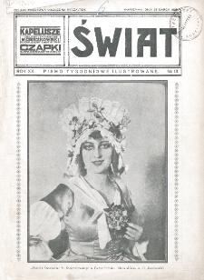 Świat : pismo tygodniowe ilustrowane poświęcone życiu społecznemu, literaturze i sztuce. R. 20 (1925), nr 13(28 marca)