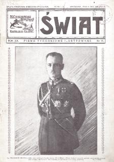 Świat : pismo tygodniowe ilustrowane poświęcone życiu społecznemu, literaturze i sztuce. R. 20 (1925), nr 14 (4 kwietnia)